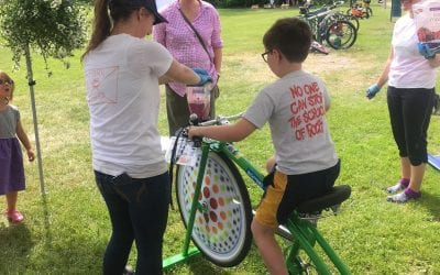 RiseVT Blender Bike at Garlic & Herb Fest