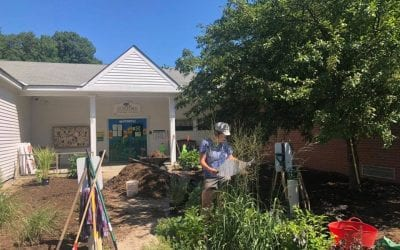 Sensory Welcome Garden at Guilford Central School
